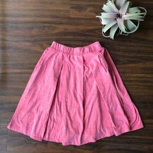 Pink A Line Skirt Lularoe Madison